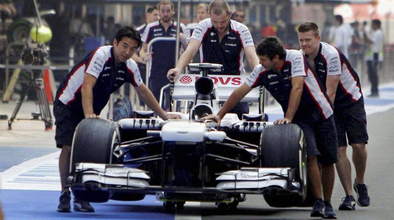 Williams F1 team during preparations. PTI Photo