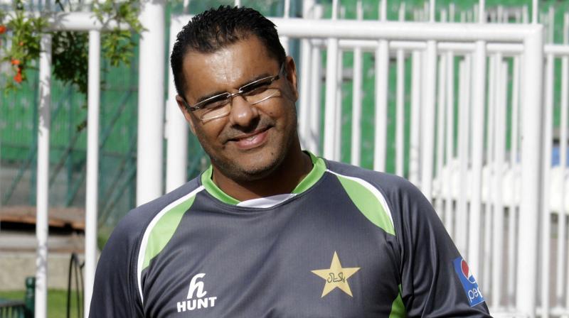 Pakistan bowling coach Waqar Younis. AP Photo