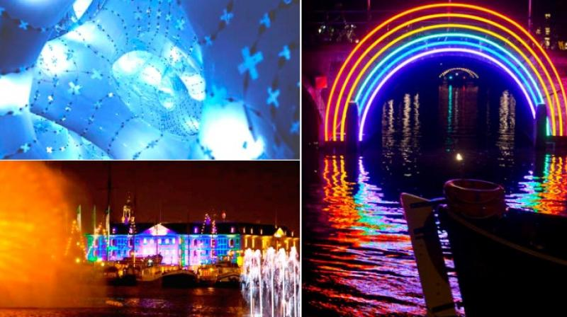 First held in 2011, the Amsterdam Light Festival has been attracting lakhs of visitors (Photo: AP)