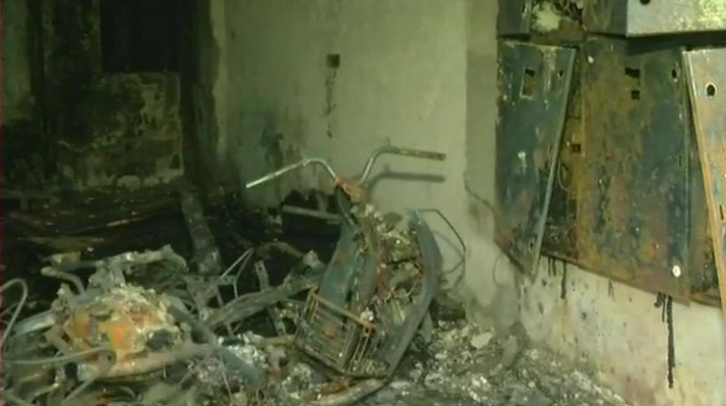 An initial investigation suggested a short circuit to be the cause of the fire. (Photo: ANI)