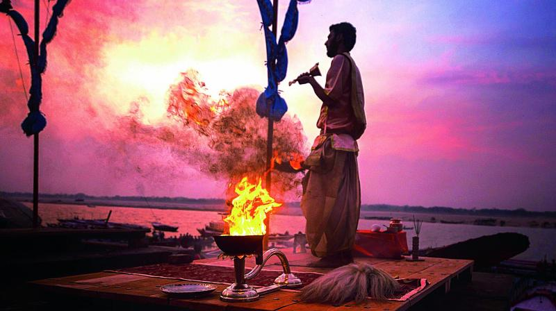 An engineer by qualification and a businessman by profession, Singh's photographs are an immediate interpretation of Varanasi's day-to-day life.