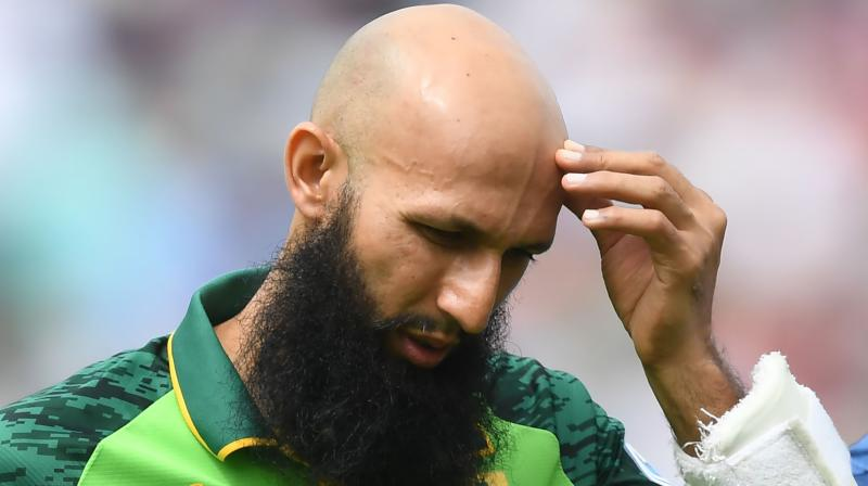 Amla sustained a head injury in that chastening loss after being hit on the helmet by a bouncer from England pace bowler Jofra Archer. (Photo: AFP)