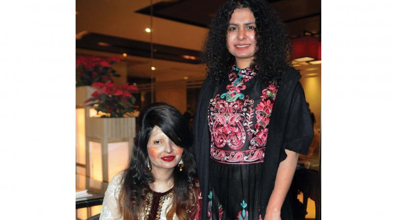 Reshma Qureshi with Tania Singh (Photo: Biplab Banerjee)