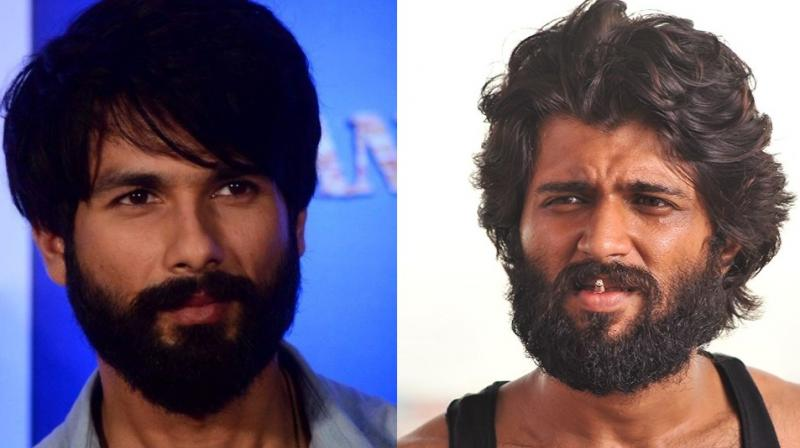 Shahid Kapoor, like Vijay Deverakonda, grew a beard for 'Arjun Reddy.'