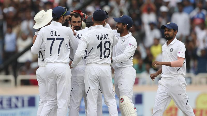Poor visibility meant the India players walked back to the dressing room barely five overs into the South African first innings after the tea break. (Photo: AP)