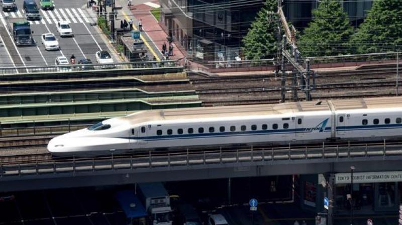 First bullet train in India will run between Mumbai and Ahmedabad, a 516 km long route. (Photo: /Representational/AFP)