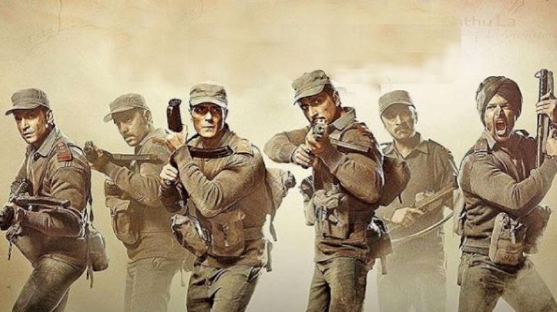 Still from the movie Paltan