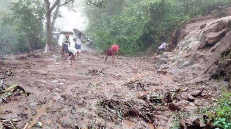 Some had even remarked that the occurrence of landslides in deep forests during this period indicates that quarrying has nothing to do with the phenomenon. This stupidity was mouthed by quarry owners and repeated their well-wishers in Kerala Assembly. (In pic: A scene of landslide in Idukki)