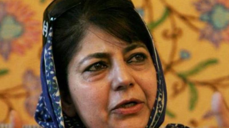 Peoples Democratic Party (PDP) chief Mehbooba Mufti on Saturday accused the authorities of lying about the ground-reality of Kashmir. (Photo: File)
