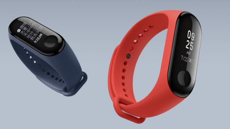 Xiaomi will sell the Mi Band 3 in three colour bands — black, blue and orange.