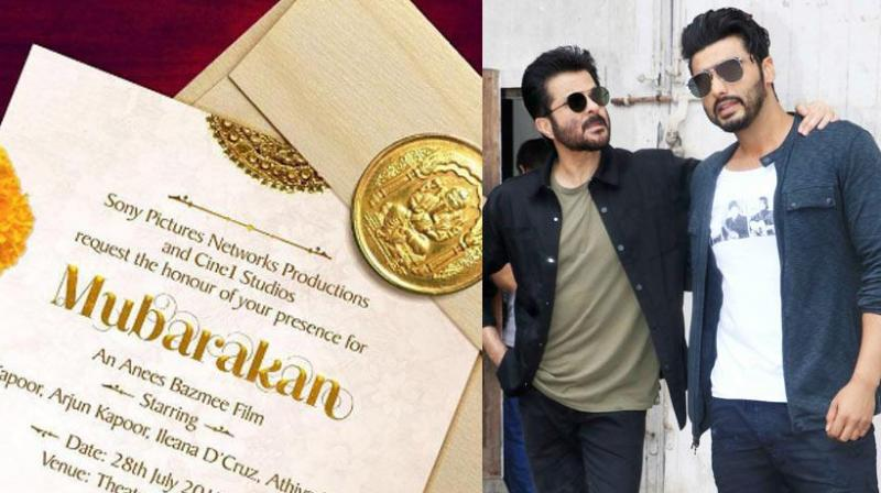 Arjun and Anil had an interesting way of annoucing the film in the form of a wedding card.