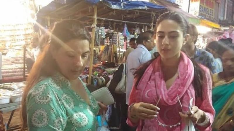 Sara Ali Khan with Amrita Singh in Hyderabad.