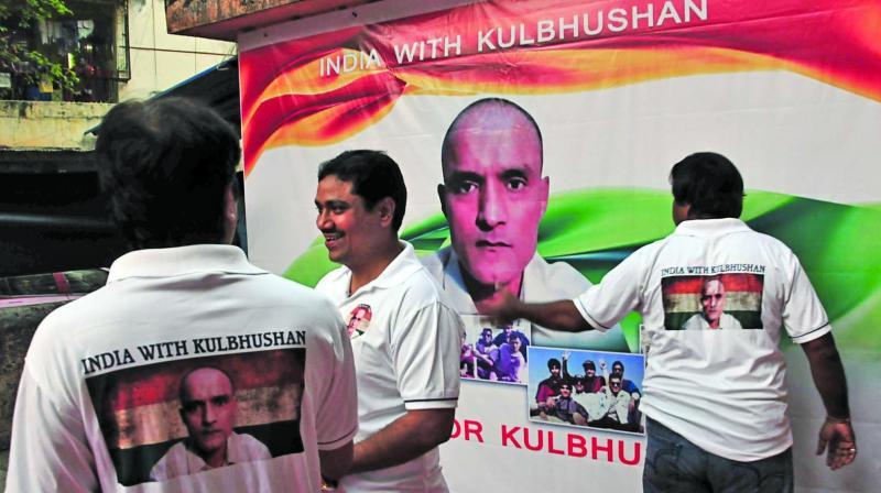 Friends and family of Kulbushan Jadhav organised a bike rally in his support. (Photo: Debasish Dey)