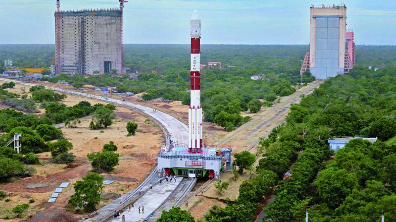 The PSLV-C39 rocket, which will carry India's eighth navigation satellite IRNSS-1H, at Sriharikota. (Photo: PTI)