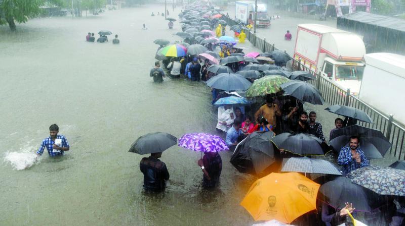 The waterlogged streets from Tuesday's downpur.  (Photo: Rajesh Jadhav)