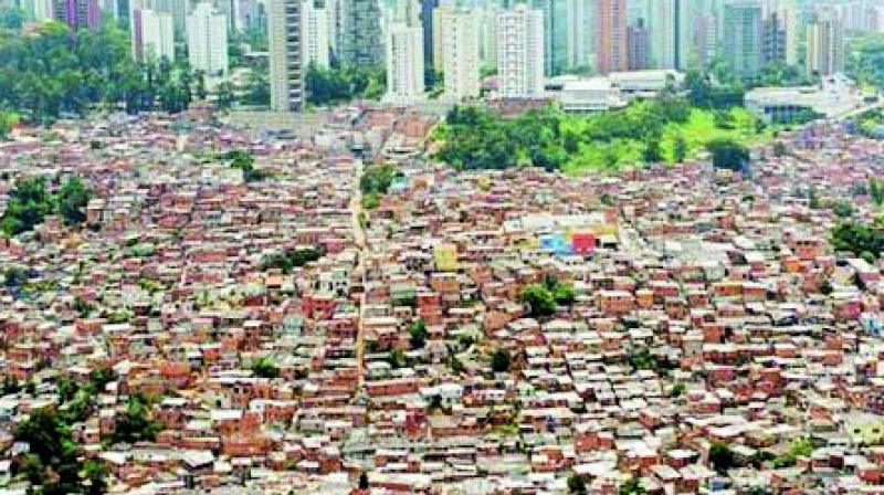 File photo of slums in Dharavi.
