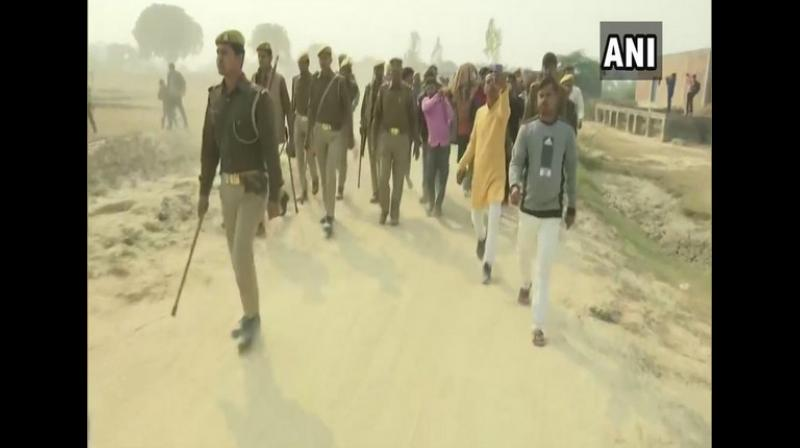 The administration had also assured of giving round the clock protection to the victim's sister and issuance of an arms license to her brother based on their demands and apart from this the family's demand to meet Chief Minister Yogi Adityanath had also been accepted. (Photo: ANI)