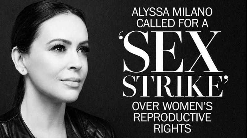 "Hollywood actress Alyssa Milano took to Twitter encouraging women to go on a ""sex strike"" in protest. (Photo: Instagram/milano_alyssa)"