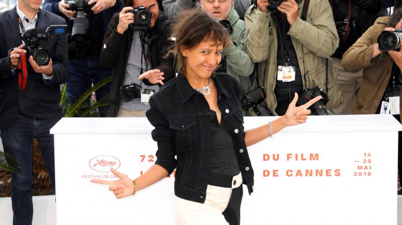 Director Mati Diop poses for photographers at the photo call for the film 'Atlantique' at the 72nd international film festival, Cannes, southern France. (Photo: AP)