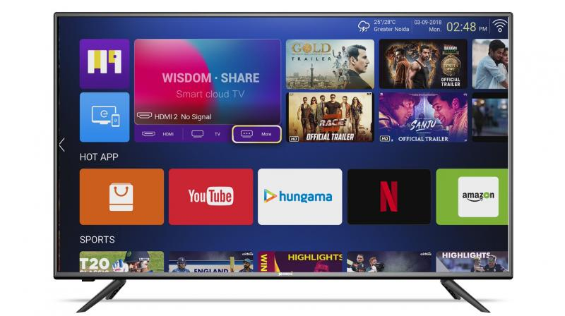 On discount, the SO50AS -E50 (49) TV (Pictured) is on offer at a discounted price of Rs 20,990 along with the 4K UHD Quantum Luminit Smart LED TVs