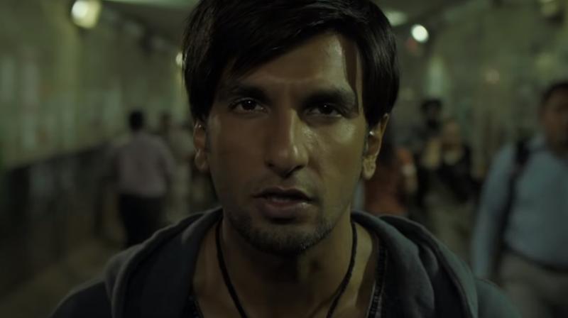 Ranveer Singh's still from Gully Boy's song Doori.