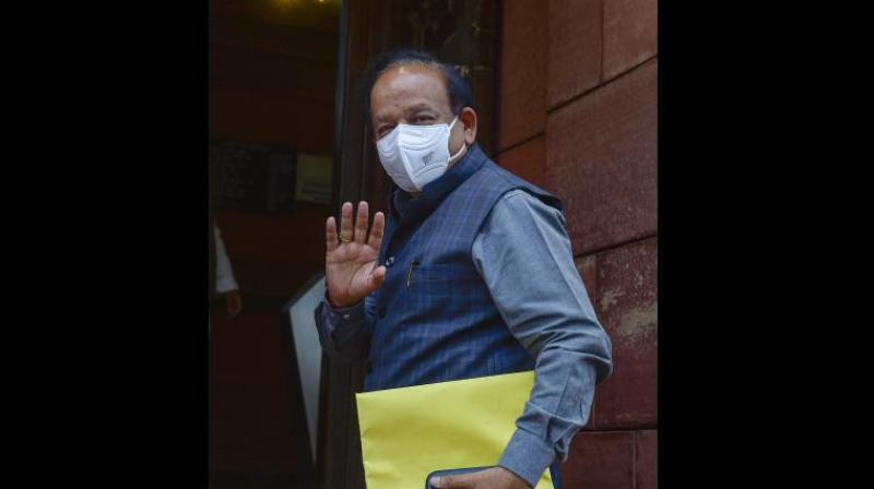 """The apparent mishandling of the second wave of the Covid-19 pandemic finally cost the """"good doctor"""", Harsh Vardhan, his portfolio. (PTI)"""