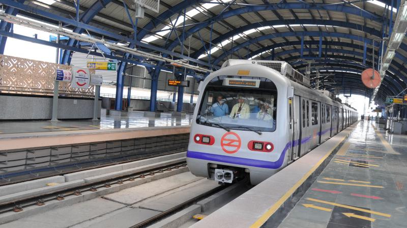 Delhi Metro resumes after 169-day COVID hiatus. (PTI Photo)