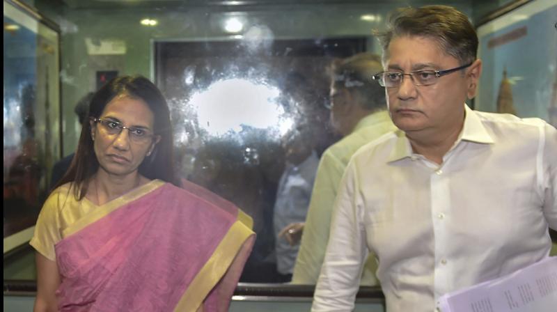 Former ICICI Bank CEO Chanda Kochhar and her husband Deepak Kochhar. (PTI Photo)