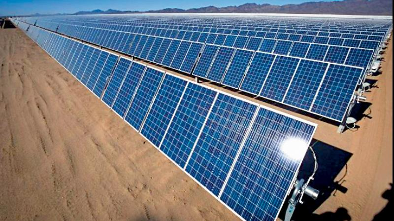 India aims for half of state-run fuel stations to be solar-powered in five years. (PTI Photo)