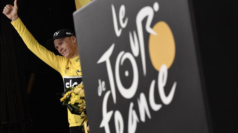2018 Tour de France winner Great Britain's Christopher Froome. AFP Photo