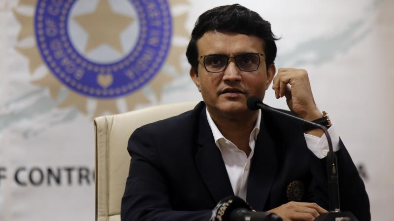 BCCI president Sourav Ganguly. AP Photo