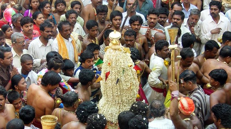 The Karaga festival attracts people from all over the south. (Photo: Satish B)