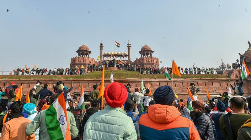 Thousands of protesters had clashed with the police during the tractor parade called by farmer unions on January 26 demanding repeal of the Centre's contentious farm laws. (PTIfile photo/Arun Sharma)