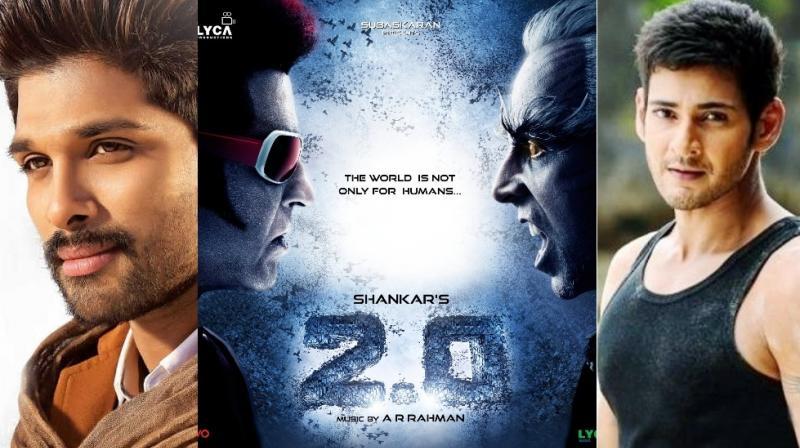 Rajinikanth starrer 2 0 in problem with Mahesh Babu and Allu Arjun