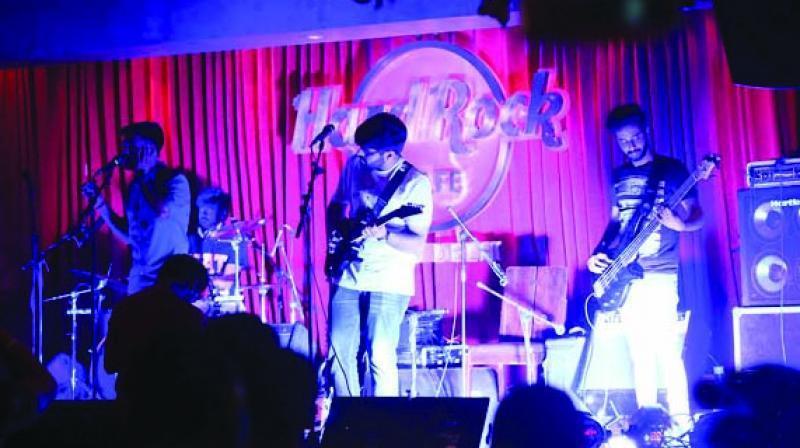 Kabir Cafe performing at Hard Rock Café, New Delhi