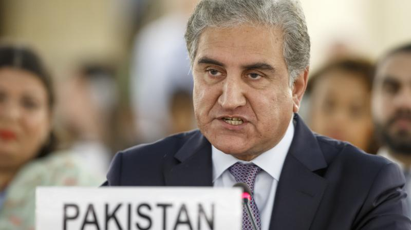 Foreign minister Shah Mahmood Qureshi outlined Pakistan's strong position while speaking at the UNHRC session in Geneva against the backdrop of tensions with India over the revocation of Jammu and Kashmir's special status on August 5. (Photo: AP)