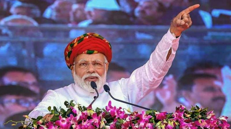 Modi was addressing a gathering after inaugurating a 750-bed annexe building of Guru Govind Singh Hospital in Jamnagar. (Photo: PTI)
