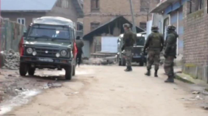 Police had information about the presence of terrorists hiding in a house in Pulwama's Tral. (Photo: ANI | Twitter)