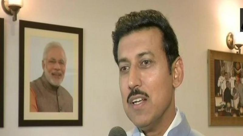 """Rathore tweeted, 'You believe international media over own Intelligence agencies? You seem happy when media quoted by you says """"no losses in strike""""?...and sir, for us you went to London to find evidence against EVMs, will you please also go to Balakot to check?' (Photo: ANI)"""