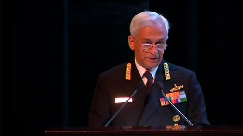 The global nature that terrorism has acquired in the recent times has further enhanced the scope of this threat, he said. India, however, faces a 'far more serious' version of terrorism, the Navy chief said. (Photo: ANI | Twitter)
