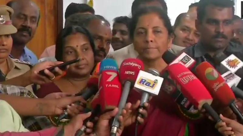 'There is no relationship between the airstrike and elections. It was based upon intelligence inputs on terrorist activities in Pakistan, to be unleashed against India. It was not a military action,' Sitharaman said. (Photo: ANI | Twitter)