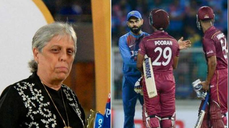 Diana Edulji, a former member of the Supreme Court-appointed Committee of Administrators (CoA), has written to the Mumbai Cricket Association (MCA) seeking complimentary passes for the third T20I match between India and the West Indies scheduled here on Wednesday. (Photo:AFP)