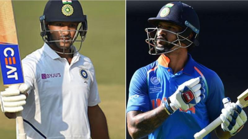 India's Test opener Mayank Agarwal is likely to replace Shikhar Dhawan in the upcoming three-match ODI series against the West Indies after the senior batsman failed to recover from his knee injury. (Photo:AFP)