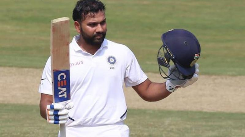 During the first day of the first test match between India and South Africa, India's new Test opener, Rohit Sharma has equalled one of Bradman's great numbers. After hitting his return and maiden Test ton as an opener, the 32-year-old made history by becoming the first Test opening batsman to have an average of 98.22. (Photo:BCCI)