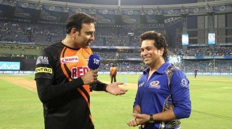 Sachin Tendulkar is an icon the Mumbai Indians, whereas VVS Laxman is attached with the Sun Riser Hyderabad team. (Photo: BCCI)