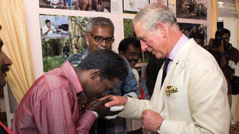Vava Suresh greeting Prince Charles (File  Photo)