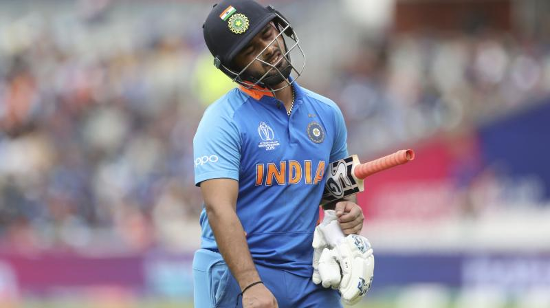 Young wicketkeeper-batsman Rishabh Pant should get used to hearing chants of 'Dhoni, Dhoni' and figure his own mechanism to deal with the extreme pressure that comes with being an India cricketer, feels BCCI President Sourav Ganguly.  (Photo: AP)