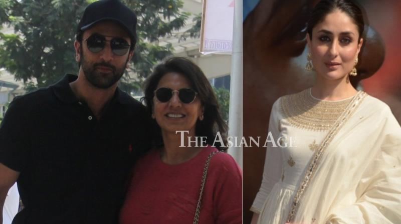As Mother's Day was celebrated worldwide on Sunday, Kareena Kapoor Khan and Ranbir Kapoor stepped out for separate reasons in Mumbai and Delhi. (Photo: Viral Bhayani)