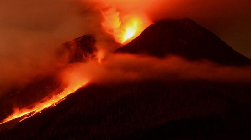 The volcano, a near-perfect cone, sits around 330 kilometres southwest of Manila. (Photo: AFP)