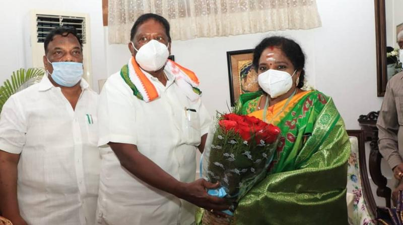 Traditionally a Congress bastion, the former French colony has suddenly become the cynosure of the BJP's eyes since the party in power at the Centre is piqued over its inability to make inroads into South India. (Photo: Twitter @CMPuducherry)